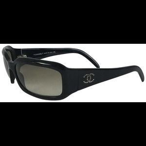 Chanel  Sunglasses Black Glam Wrap